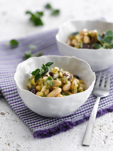 Dried bean salad