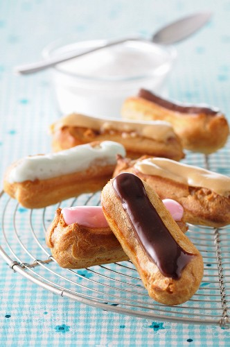 Different flavored mini Eclairs