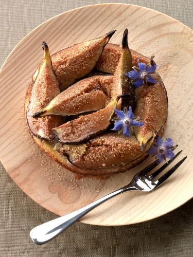 Amandine-fig tartlet