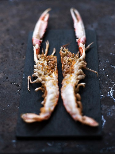 Dublin Bay prawns with nougat and pine nuts