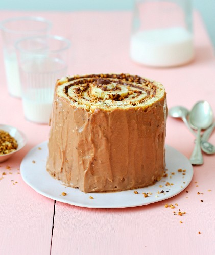 Nutella rolled chiffon cake