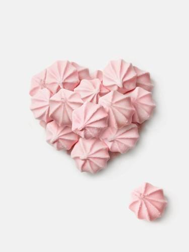 Pink meringue heart
