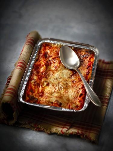 Dish of lasagnes