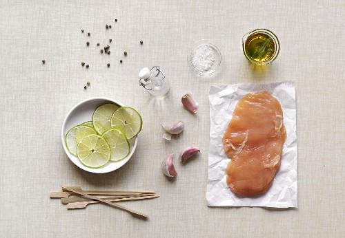 Ingredients for chicken