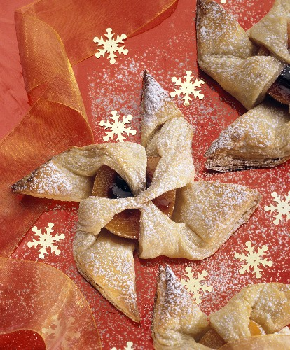 Puff Pastry Pinwheel with Decorations
