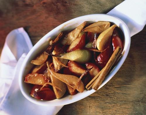 Fruit Tsimmes; Cinnamon Sticks