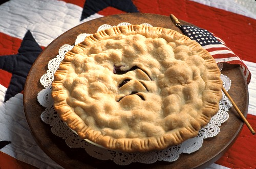 Apple Pie with the American Flag