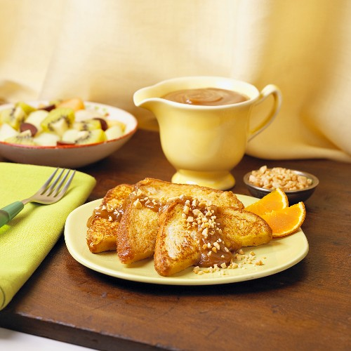 French Toast with Peanut Butter Sauce