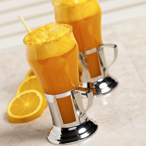 Two glasses of Orange Fizz