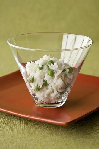 Coconut Jasmine Rice with Peas