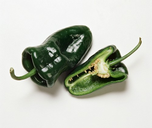 Two Poblano Pepper with a Half of One