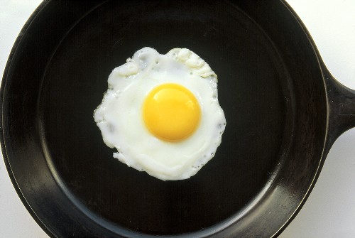 Fried Egg in a Cast Iron Skillet