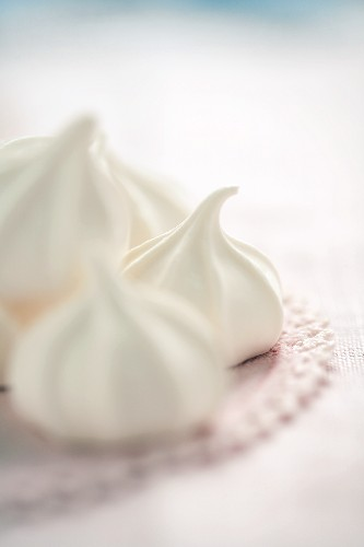 Meringue Cookies on a Doily