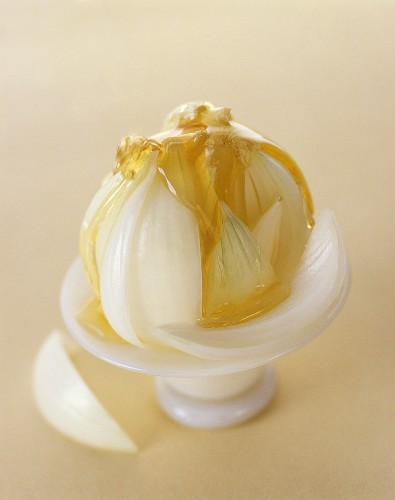 White onion with honey (a cough remedy)