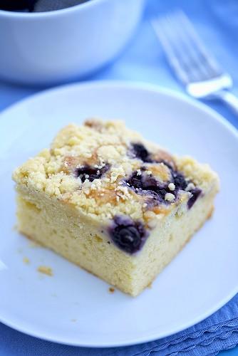 Piece of Blueberry Crumb Coffee Cake