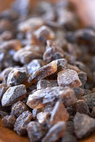 Brown Belgian Rock Candy Sugar, Close Up