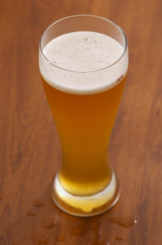 16 Ounce Pilsner Glass of Belgian Style Wheat Beer