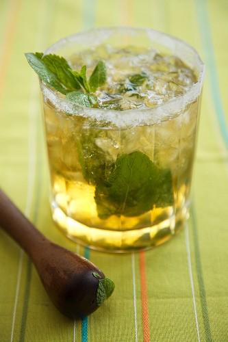 Mint Julep made with Kentucky Bourbon in a Glass