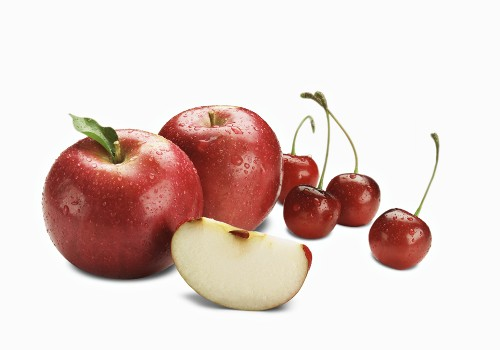 Apple and Cherry Still Life