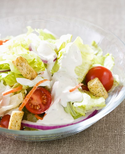Garden Salad with Blue Cheese Dressing