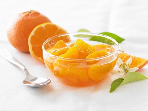 Bowl of Mandarin Oranges in Syrup