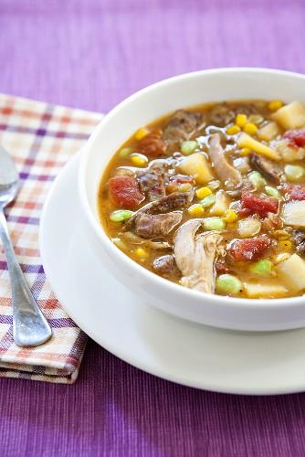 Kentucky Burgoo; Lamb, Chicken, Corn and Lima Bean Soup