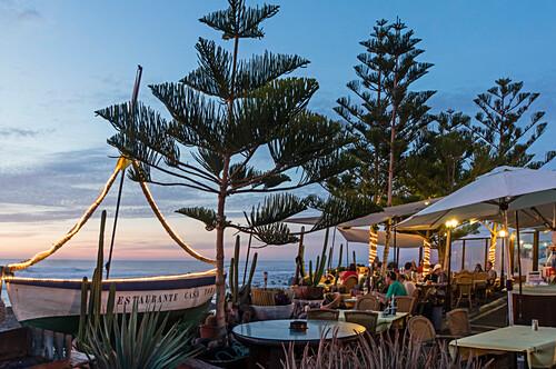 El Golfo, Restaurant near ocean front, Lanzarote, Kanarische Inseln Spanien