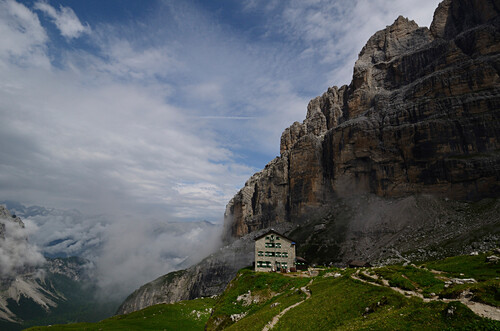 Rifugio Brentei, Brenta, Dolomiten, Trentino, Italien