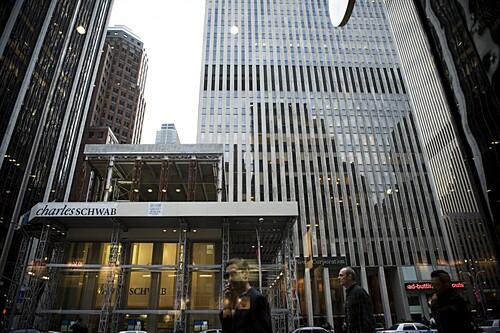 Bürogebäude in New York City, New York, USA