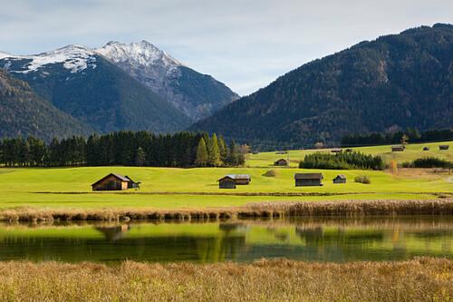Schmalensee, bei Mittenwald, Werdenfelser Land, Bayern, Deutschland