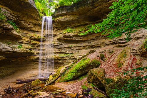 Wasserfall in der Pahler Schlucht, Fünfseenland, Bayern, Deutschland