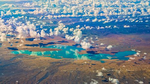 Spiegelungen im See in Neufundland, Kanada