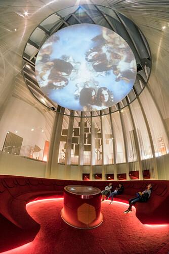 La Cite du Vin, Weinmuseum, Ausstellungsraum,  Bordeaux, Gironde, Aquitanien, Frankreich