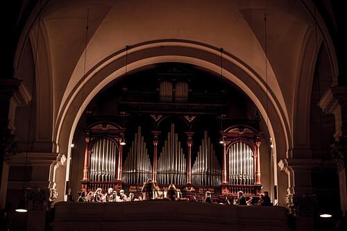 Orgel, Chor, Orchester, Stille Nacht, heilige Nacht, Gottesdienst, Weihnachten, Oberndorf, katholisches Brauchtum, Weihnachtszeit, christliches Brauchtum, Österreich, Europa