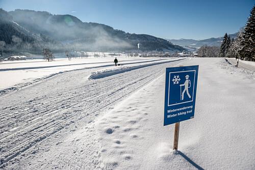 Winterwanderweg, Schnee, Winter, Skigebiet, Werfenweng, Österreich, Alpen, Europa