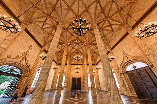 La Lonja de la Seda, UNESCO Weltkulturerbe, Valencia Spanien