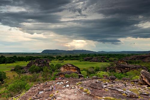 Blick von Ubirr über die Schwemmebene des East Aligator Rivers, Kakadu National Park, Northern Territory, Australien