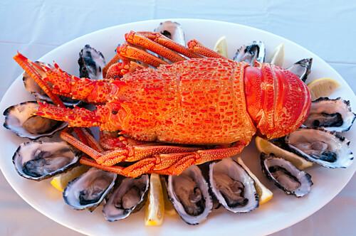 Meersfrüchte mit Langusten und Austern, Eyre Peninsula, Südaustralien, Australien