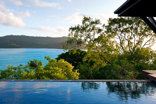 Die Windward Pavillions im Qualia Resort haben einen pivaten Pool, Hamilton Island, Queensland, Australien
