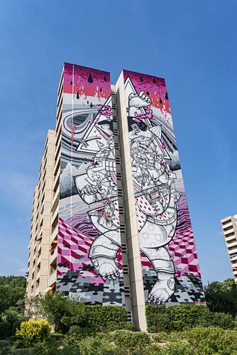 Wandgemaelde, Berlin, Deutschland