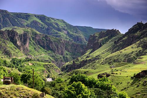 near Vardzia, little Caucasus, Georgia