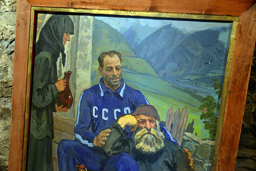 Michail-Chergiani-Museum in Mestia im Großen Kaukasus, West- Georgien