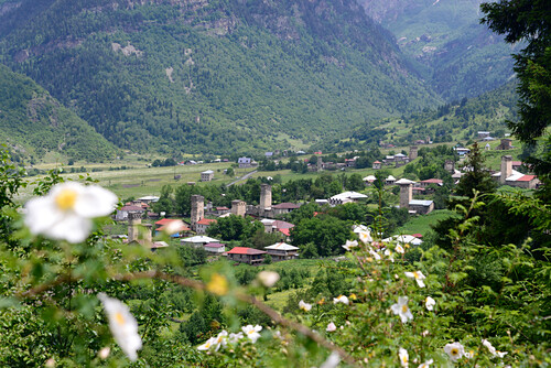 bei Mestia im Großen Kaukasus, West- Georgien