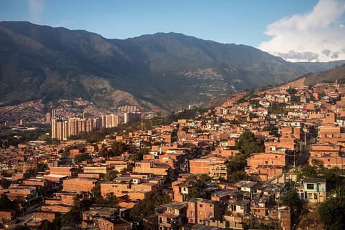Armenviertel von Medellin, Departmento Antioquia, Kolumbien, Südamerika