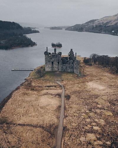 Kilchurn Schloss Lustaufnahme Isle Of Bild Kaufen