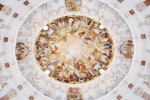 ceiling fresco at castle Bruchsal, Bruchsal, Baden-Wuerttemberg, Germany