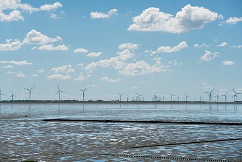 Watt, Windräder, Sylt, Schleswig-Holstein, Deutschland
