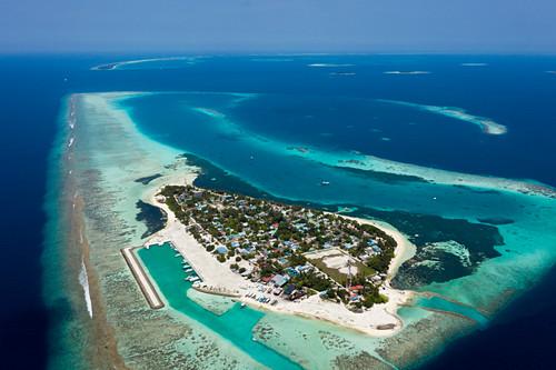 Einheimischeninsel Dhangethi, Ari Atoll, Indischer Ozean, Malediven