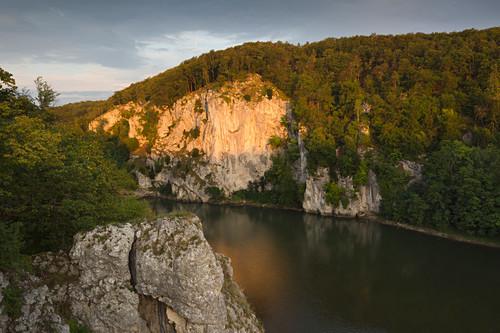 Donaudurchbruch am Kloster Weltenburg, Donau, Bayern, Deutschland