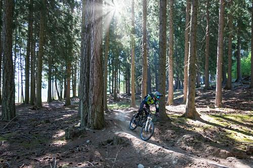 Mountainbiken am Holy Hansen Trail im Vinschgau, Italien